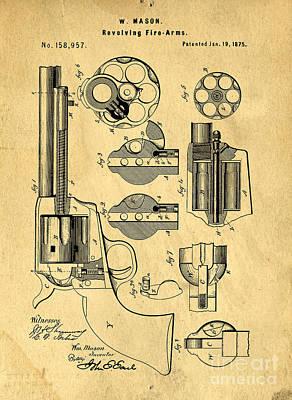 Colt Peacemaker Patent Art Blueprint Drawing Art Print