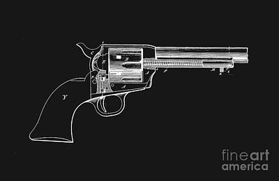 Fight Digital Art - Colt Peacemaker Tee by Edward Fielding
