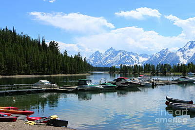 Photograph - Colter Bay On Jackson Lake  by Christiane Schulze Art And Photography