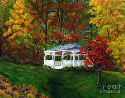 Art Print featuring the painting Colton Gazebo by Judy Filarecki