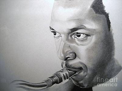 Affordable Drawing - Coltrane by Sonya Walker