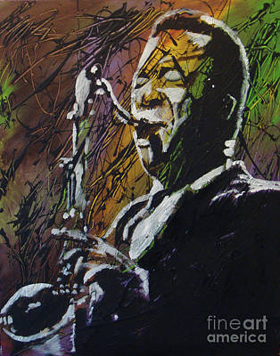 Painting - Coltrane by Stuart Engel