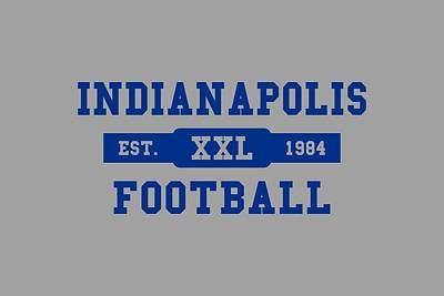 Indianapolis Photograph - Colts Retro Shirt by Joe Hamilton