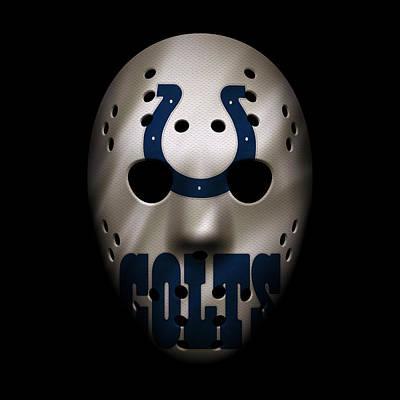 Indianapolis Photograph - Colts War Mask 2 by Joe Hamilton