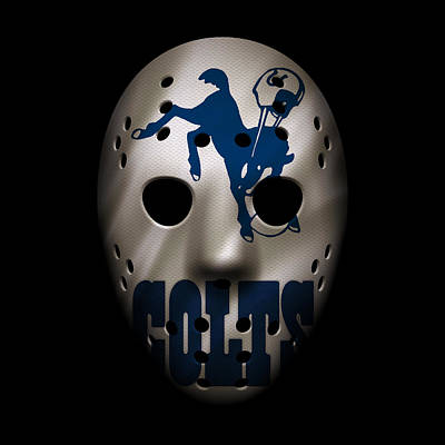 Indianapolis Photograph - Colts War Mask 3 by Joe Hamilton