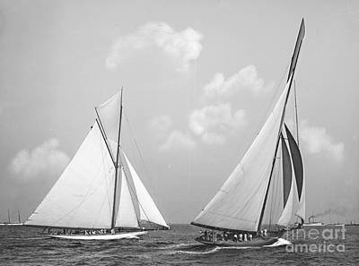 Columbia And Shamrock Race The Americas Cup 1899 Art Print by Padre Art