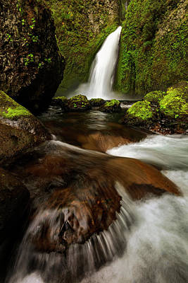 Photograph - Columbia Cleft by Mike Lang