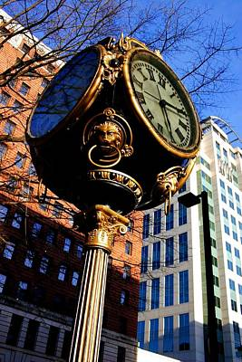 Photograph - Columbia Clock by Joseph C Hinson Photography