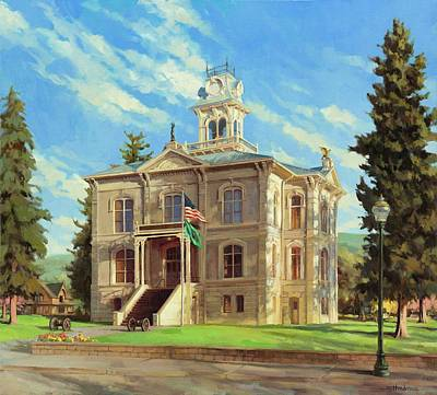 Painting - Columbia County Courthouse by Steve Henderson