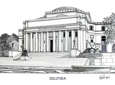 Drawing - Columbia by Frederic Kohli
