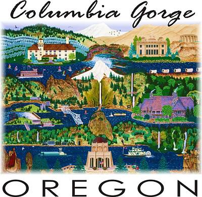 Painting - Columbia Gorge by Jennifer Lake