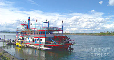 Columbia River Photograph - Columbia Gorge Sternwheeler by Charles Robinson