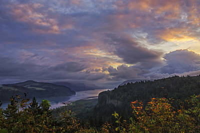 Columbia Gorge Sunrise Art Print