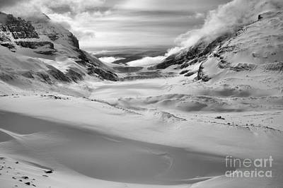 Photograph - Columbia Icefield Endless Drifts Black And White by Adam Jewell