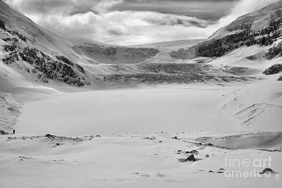 Photograph - Columbia Icefield Icy Blue Winter Views Black And White by Adam Jewell