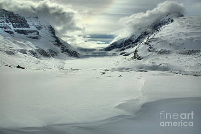 Photograph - Columbia Icefield Winter Landscape by Adam Jewell