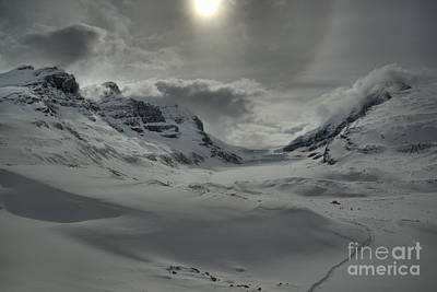 Photograph - Columbia Icefield Winter Sunburst by Adam Jewell