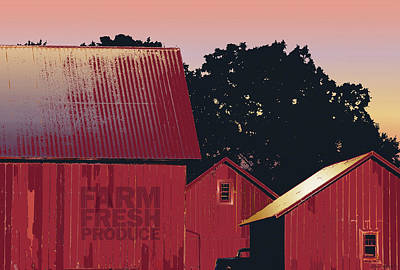 Photograph - Columbia Maryland Farm - Farm Fresh Produce by Glenn Gemmell