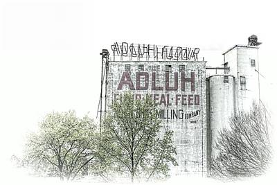 Photograph - Columbia Milling Company by Jenny Hudson