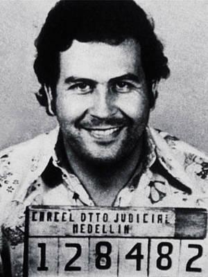 Painting - Columbia Pablo Escobar Mug Shot by Tony Rubino
