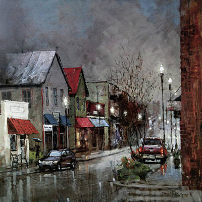 Painting - Columbia Rain by Dan Nelson