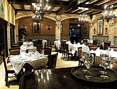 Photograph - Columbia Restaurant Fine Dining by Judy Wanamaker
