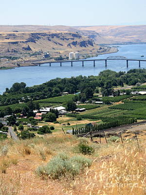 Photograph - Columbia River And Biggs Bridge by Carol Groenen
