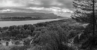 Photograph - Columbia River Gorge Black And White  by John McGraw