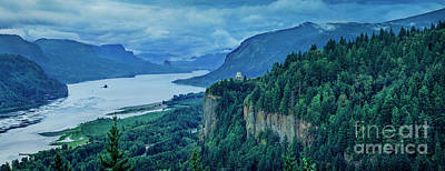 Photograph - Columbia River Gorge Panoramic by Brian Jannsen