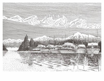 Columbia River Raft Up Art Print by Jack Pumphrey