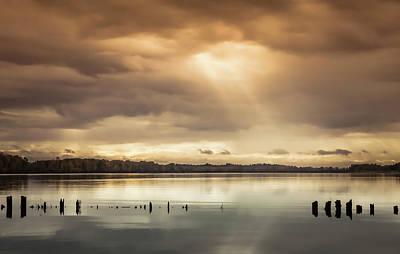 Photograph - Columbia River Sunrise by Don Schwartz