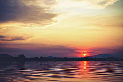 Columbia River Sunset Art Print by Debi Bishop