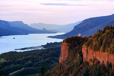 Columbia River Vista House Art Print by Mary Jo Allen