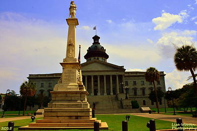 Photograph - Columbia Sc State House And Confederate Memorial by Lisa Wooten