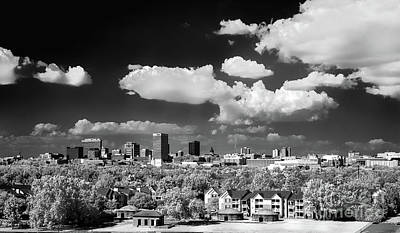 Photograph - Columbia Skyline - I R Bw by Charles Hite