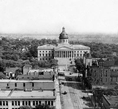Columbia South Carolina - State Capitol Building - C 1905 Art Print