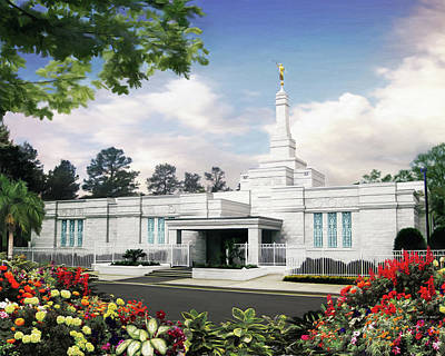 Columbia South Carolina Temple Art Print by Brent Borup