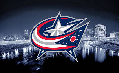 Digital Art - Columbus Blue Jackets Artwork  by Nicholas Legault