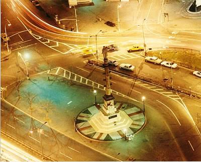 Benchmark Photograph - Columbus Circle by Don Youngclaus