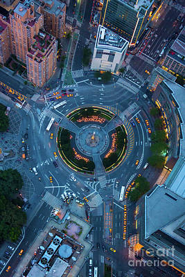 Traffic Photograph - Columbus Circle by Inge Johnsson