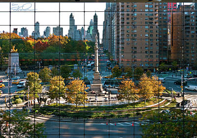 Columbus Circle Print by S Paul Sahm