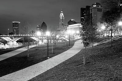 Photograph - Columbus City Lights - Downtown Skyline by Gregory Ballos