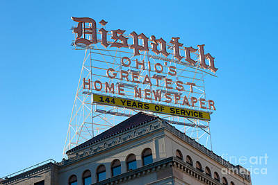 Photograph - Columbus Dispatch Roof Top Sign I by Clarence Holmes