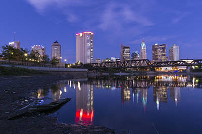 Photograph - Columbus Evening On Water by Alan Raasch