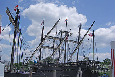 Photograph - Columbus' Fleet Visits Ct by Margie Avellino
