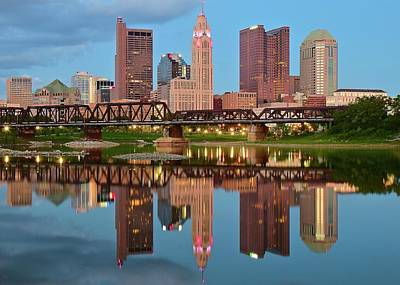 Photograph - Columbus In Scioto River Reflection by Frozen in Time Fine Art Photography