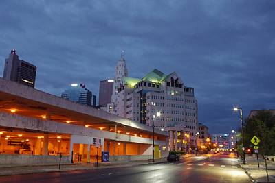 Photograph - Columbus Night 50145 by Brian Gryphon