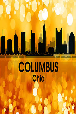 Digital Art - Columbus Oh 3 Vertical by Angelina Vick