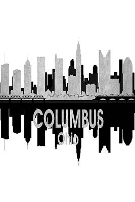 Digital Art - Columbus Oh 4 Vertical by Angelina Vick