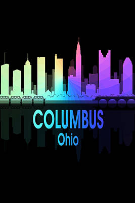 Digital Art - Columbus Oh 5 Vertical by Angelina Vick